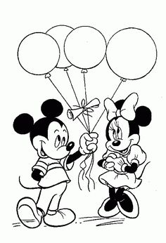 Mickey And Minnie Mouse | Mickey and Minnie Mouse Coloring Pages - Lets coloring!