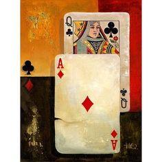 Poker Queen Canvas Art