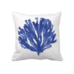 blue coral pillow$63.00!