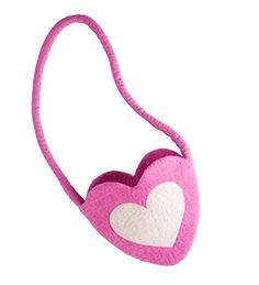 Heart-in-Hand Felt Messenger Purse, in Rose ** Click image for more details.