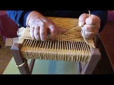 New England Porch Weave Variation Chair Repair, Furniture Repair, Furniture Making, Furniture Makeover, Diy Furniture, Macrame Chairs, Diy Hammock, Woven Chair, Basket Crafts