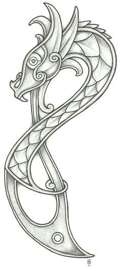 Norse Dragon Design