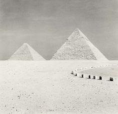 Michael Kenna, Giza Pyramids, Study 2, Cairo, Egypt, 2009