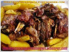 ΑΡΝΑΚΙ ΜΕ ΠΑΤΑΤΕΣ ΣΤΗ ΓΑΣΤΡΑ!!!  Κλασικο ελληνικο Κυριακατικο φαγητο και οχι μονο, αρνακι λεμονατο με μελωμενες πατατουλες στη γαστρα....by nostimessyntagesthsgwgws.blogspot.com