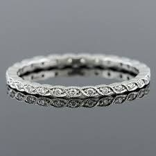 diamond wedding band with milgrain - Google Search