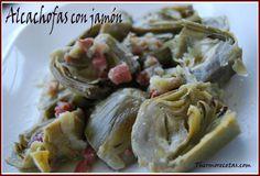 Alcachofas-con-jamón