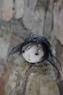 Millpond Mildred OOAK Paper Clay Art Doll ADE by anthropomorphica