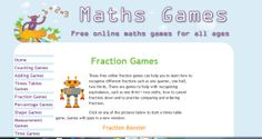 These free online fraction games will help you to learn fractions from the basics of recognising one half or one quarter to more advanced skills such as equivalence and cancelling down. Counting Games, Math Games, Times Tables Games, Math Fractions, Maths, Math Resources, Free Games, Classroom