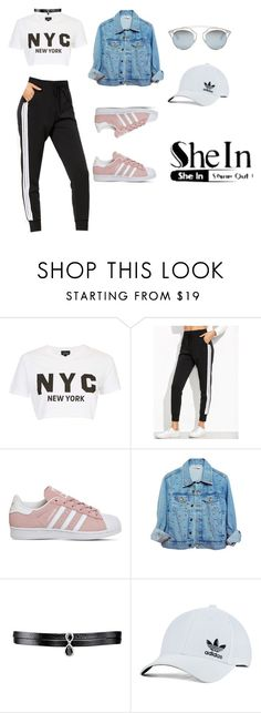 """""""Untitled #67"""" by antifeed ❤ liked on Polyvore featuring Topshop, adidas, High Heels Suicide, Fallon, adidas Originals and Christian Dior"""