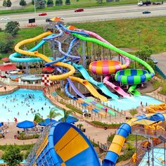 So many choices at #HurricaneHarbor at #SixFlagsGreatAmerica  Where would you start?? #WaterPark #ExtremeWaterSlides