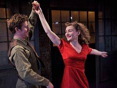 Oliver King (Victor) and Emily Tucker (Helya) in A WARSAW MELODY (Arcola Theatre, 2012, dir. Oleg Mirochnikov)
