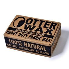3 Pack: Fabric Wax : All Natural Water Repellent By Otter Wax : 2.25 Oz Bar by Otter. Save 14 Off!. $29.95. 100% Natural Ingredients: Non-Toxic, No Silicone, No Petroleum. Great for use on Canvas Shoes, Hats, Jackets, Rucksacks, Backpacks, & More!. Original Formula : Long-Lasting Water Repellent Seal. Environmentally Friendly & Safe Ingredients -Handmade in Portland, Oregon, USA-. All-Natural Canvas Wax : Maximum Water Repellency Wax for Fabric. The Original Otter Wax Heavy Duty Fabric Wa...