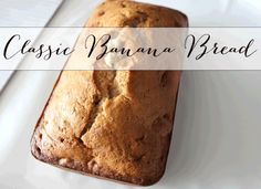 If you've got a bunch of bananas that are going bad, Classic Banana Bread is the best way to use them up!