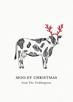 Personalised Christmas Cow Christmas Card Set designed by Hartford Prints! This folded card is printed on white Mohawk paper with a thickness of and a Christmas Farm, Christmas Doodles, Christmas Ideas, Cow Illustration, Christmas Illustration, Illustrations, Charity Christmas Cards, Book Cover Art, Animal Cards
