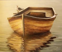 'Old Boat' - Oil on canvas, by Natalia Tejera