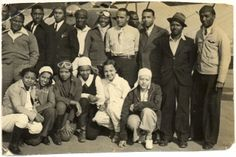 William J. Powell (far right), a successful owner of several automobile service stations in Chicago, moved to Los Angeles to learn to fly. By the early 1930s Powell had organized the Bessie Coleman Aero Club to promote aviation awareness in the black community. Both men and women were welcome to apply. Powell became a talented visionary and promoter of black involvement in aviation.