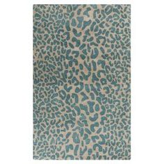 """Anchor your living room seating group or define space in the den with this artfully hand-tufted wool rug, featuring a leopard-print motif for eye-catching appeal.  Product: RugConstruction Material: WoolColor: Deep teal Features:  Hand-tuftedMade in IndiaPile Height: 0.63"""" Note: Please be aware that actual colors may vary from those shown on your screen. Accent rugs may also not show the entire pattern that the corresponding area rugs have."""