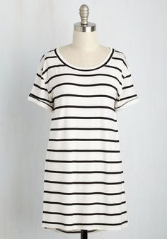 #AdoreWe #ModCloth Top - ModCloth Simplicity on a Saturday Tunic in White Stripes - AdoreWe.com