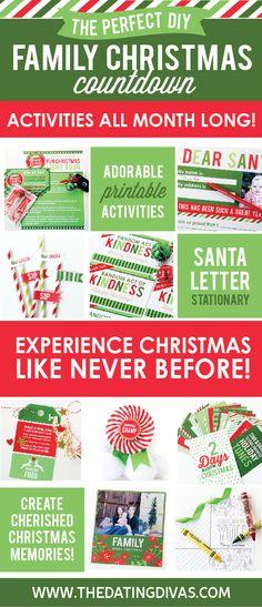 Family Christmas Countdown!!!  Just print!
