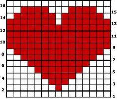 iki şişle örgü kalp yapımı ile ilgili görsel sonucu Tutoriales Crochet, Alpha Patterns, Knitting Ideas, Baby Knitting, Le Point, Friendship Bracelet Patterns, Tapestry Crochet, Graph Crochet, Projects