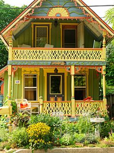 Not sure I would do this, but I admire the craftsmanship that has gone into it. Love the house and landscaping. Not so sure about the colors.