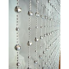 3 x 6 Foot Disco Ball Beaded Curtain Panels - Silver Iridescent Disco Ball Curtains [PC15NAB-SIL Disco Ball Curtain] : Wholesale Wedding Supplies, Discount Wedding Favors, Party Favors, and Bulk Event Supplies