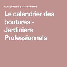 Le calendrier des boutures - Jardiniers Professionnels