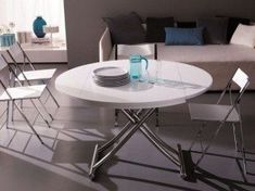 Height adjustable coffee table as a practical piece of furniture