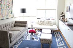Jen from Made by Girl has such an eye for style.  Love her newly decorated small apartment, classy and chic.