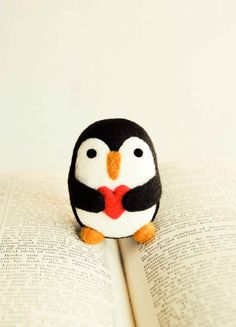Needle Felted Percival the Penguin Wooly by handmadebybrynne, $22.00
