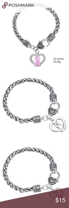 A New Alloy Breast Cancer Awareness  Bracelet A New Alloy Breast Cancer Awareness Jewelry Bracelets