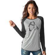 Touch by Alyssa Milano Women's Baltimore Orioles Grey/BlackLong Sleeve Shirt
