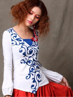 Chinese blue and white porcelain top