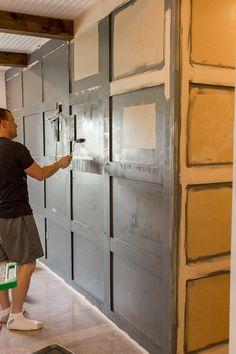 Jenna Sue: Master Makeover: DIY Paneled Wall
