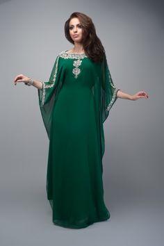 Elegante por encargo de manga larga Arabric caftán con cuentas Formal mujeres…