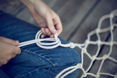 How to: Make a Hammock from Scratch | Man Made DIY | Crafts for Men | Keywords: DIY, rope, knot, hammock