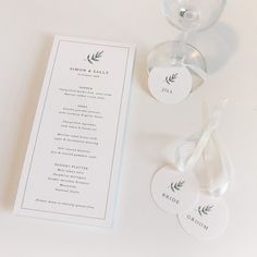 A little surprise for guests when they arrive for dinner - great for an open seating plan! Romantic Wedding Receptions, Wedding Reception Decorations, Intimate Weddings, Wedding Table, Wedding Day, Minimalist Wedding Reception, Minimal Wedding, Elegant Wedding, Floral Invitation