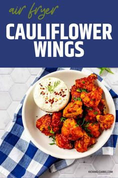 I really want to try new vegetable recipes and these Air Fryer Cauliflower Wings look so good! I can't wait to cook this easy side for my family. These little bites look like the perfect cauliflower recipe. SO PINNING! Healthy Appetizers, Easy Healthy Recipes, Appetizer Recipes, Real Food Recipes, Vegetarian Recipes, Dinner Recipes, Appetizer Ideas, Party Appetizers, Free Recipes