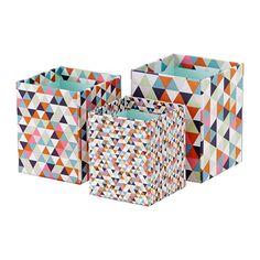 IKEA - HEJSAN, Pot à crayons, lot de 3, Pour organiser le rangement de vos stylos, règles et autres petites fournitures de bureau.