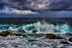 Angry Water, Akoakoa Point, Makapala, The Big Island Of Hawaii