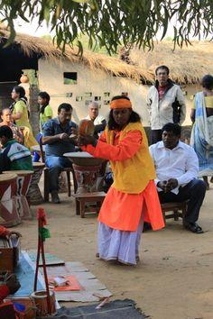 Baul performance at Shanibar-er Haat at Sonajhuri, Shantiniketan.