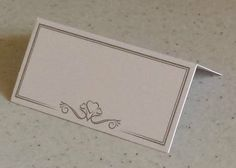 PACK OF 50 WHITE PLACE NAME CARDS HEART DESIGN PARTY FOR WEDDING TABLE SETTING
