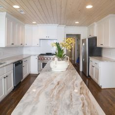 In a gorgeous Fantasy Brown marble! #marble #marblecountertops #kitchencountertops