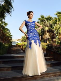 Sheath Column V-neck Applique Sleeveless Floor-Length Net Dresses JollyProm  High Low. High Low Prom DressesNet DressesPlus Size ... 33b0bcd0cd4a
