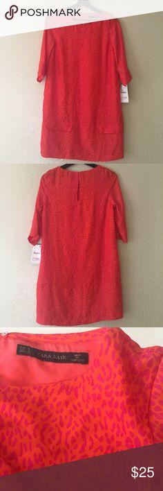 NTW ZARA Basic pink & orange animal print dress New ZARA basic dress! Size S Zara Dresses