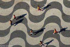 Copacabana boardwalk, Rio de Janeiro, Brazil.