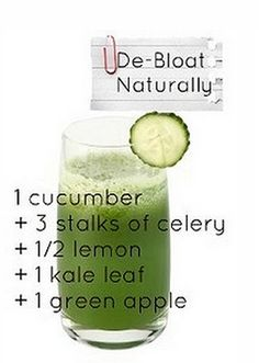 Try this to de-bloat! #HealthyEating #Health #Bloating