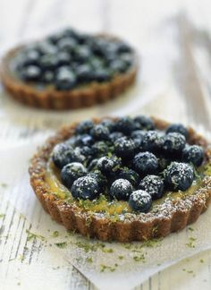 Blueberry-Lime Ginger Tartlets    *so good! and it works to make a half batch... also will not use so much butter in the crust next time...