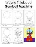 ShoshyArt Teaching Resources | Teachers Pay Teachers Teacher Resources, Teacher Pay Teachers, Art Sub Lessons, 5th Grade Art, Wayne Thiebaud, Gumball Machine, 5th Grades, Coloring Pages, Kindergarten