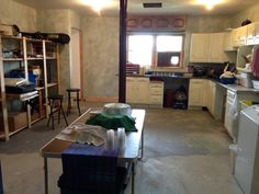 The dye studio, almost complete.